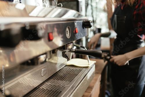 working coffee machine