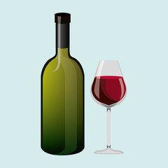 wine icon design