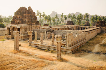 Aluminium Prints Ruins Achutaraya temple in Hampi