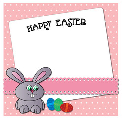 Funny Easter bunny card design.