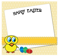 Funny Easter chicken card design.