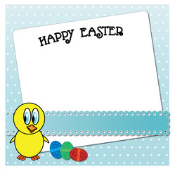 Funny Easter chicken card design.