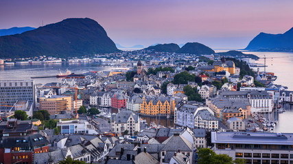 Cityscape of Alesund, Norway