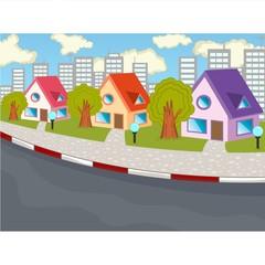 City view cartoon