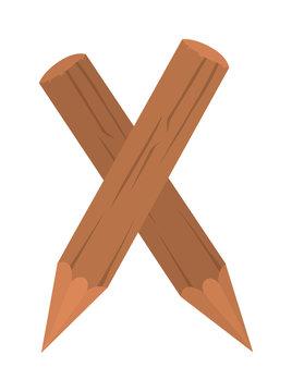 Stake pole vector illustration.