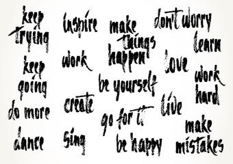 Motivation hand drawn sayings