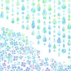 雨 梅雨 あじさい