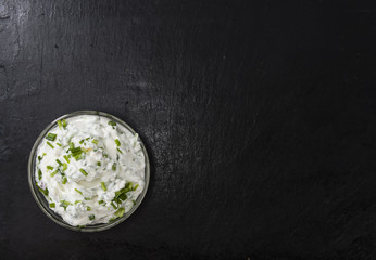 Bowl with Herb Curd