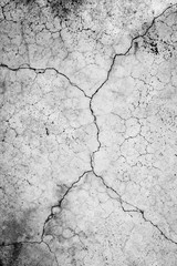 Cracked cement  old  gray background