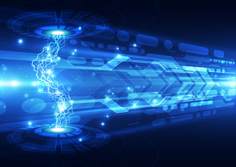 Abstract electric digital technology, concept background