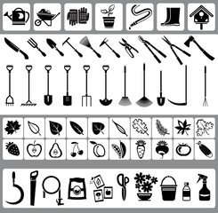 Garden and nature icons