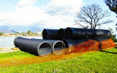 big plastic pipe