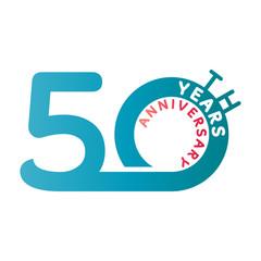 Anniversary: 50 years anniversary Template logo.