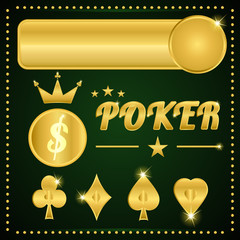 gold poker items