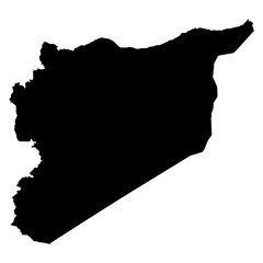 Syria map on white background vector