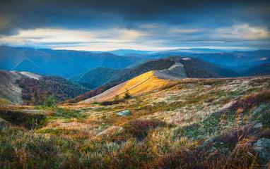 Carpathian autumn mountains