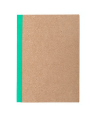 brown cover notebook recycle paper