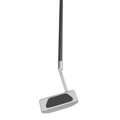 Putter Golf Club isolated on white background
