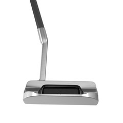 Modern putter golf club on white background.