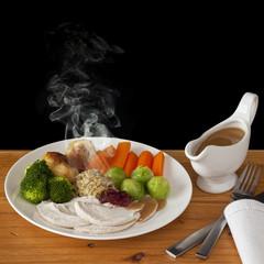 Roast Chicken Dinner with Steam