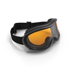 Ski glasses on white