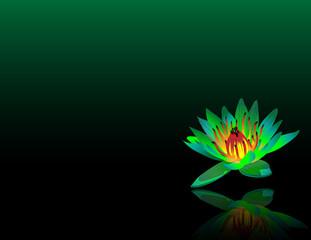 Green Lotus Reiki Chakra Flower