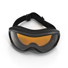 Ski glasses on white