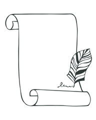 Vector hand drawn scroll paper background