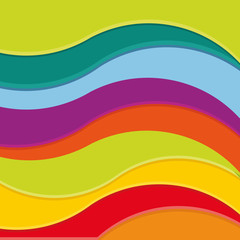Background from bright multi-colored waves. Vector.