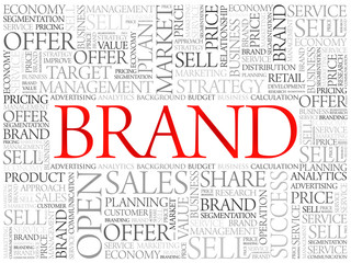 Brand word cloud, business concept background