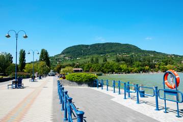 Fond de hotte en verre imprimé Port Badacsony harbor at Lake Balaton,Hungary