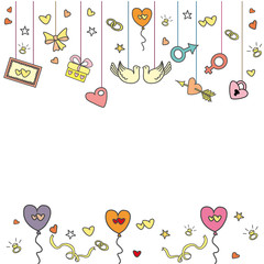 doodle wedding greeting card