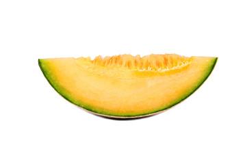 Slice cantaloupe melon
