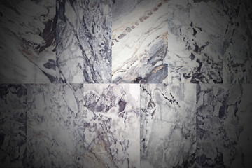 Patterned marble surface