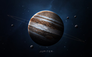 Wall Mural - Jupiter - High resolution 3D images presents planets of the solar system. This image elements furnished by NASA.
