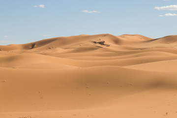 sand dunes in the desert in Merzouga