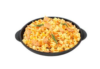 Pilaf in a pan