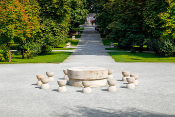 The Table Of Silence a sculpture by  Constantin Brancusi In Targu Jiu, Romania