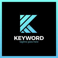 Keyword Logo Letter K