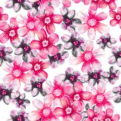 Spring flowers seamless pattern.