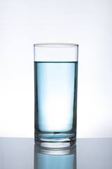 Concept of drinking. glass of water