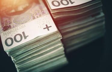 Polish Zloty Pile of Cash
