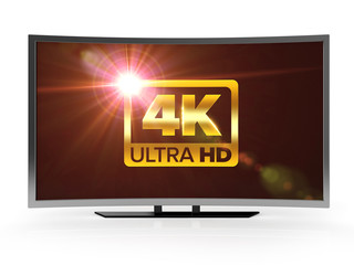 curved 4K ultra high definition led tv