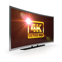 curved 4K uhd tv