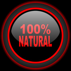 natural black and red glossy internet icon on black background