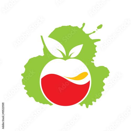 quotfresh healthy fruit juice extract logo templatequot stock