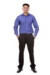handsome east asian businessman
