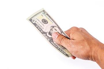 US dollars on hand.