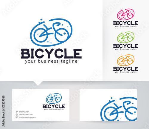 Bicycle logo vector logo with alternative colors and business card bicycle logo vector logo with alternative colors and business card template reheart Gallery