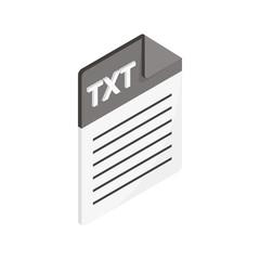 TXT icon, isometric 3d style